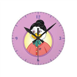 Birdy氏 ラウンド壁時計