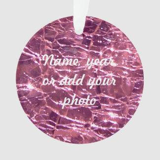 Birthstone罅割れたガラス10月のピンクの電気石 オーナメント