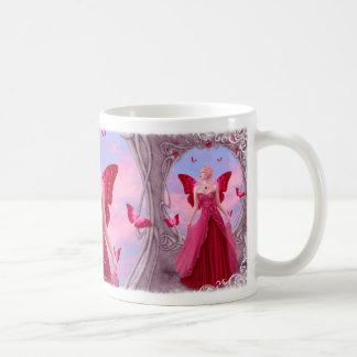 Birthstones -ルビー色の妖精のマグ コーヒーマグカップ
