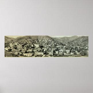 BisbeeのAZのヴィンテージの写真の1916羽の鳥目眺め ポスター