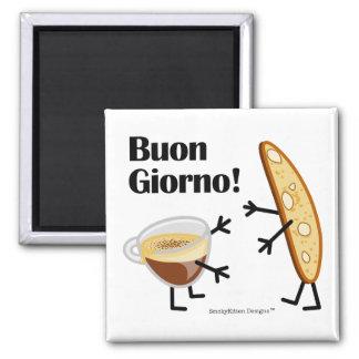 Biscotti及びコーヒー- Buon Giorno! マグネット