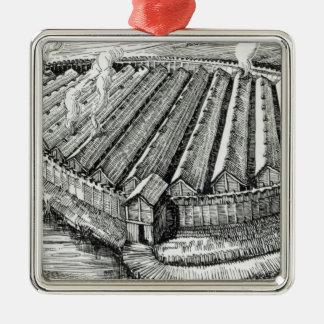 Biskupinの鉄器時代の村の復元 メタルオーナメント