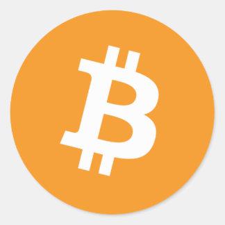 Bitcoinのステッカー ラウンドシール
