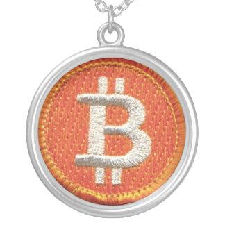 BitCoinのネックレス シルバープレートネックレス