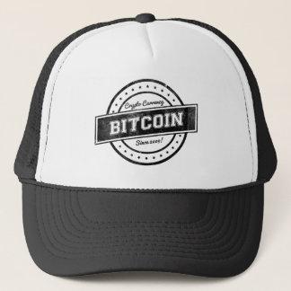 Bitcoinのラベルのロゴのデザイン キャップ