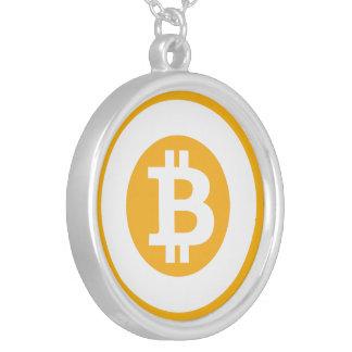 Bitcoinのロゴのクラシックなスタイル1 シルバープレートネックレス