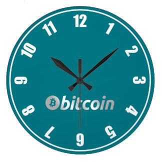 Bitcoinのロゴのグラフィックビジネス、オフィスの壁 ラージ壁時計