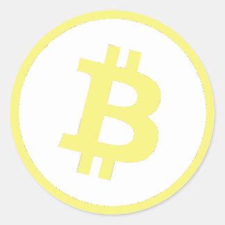 Bitcoinのロゴ ラウンドシール