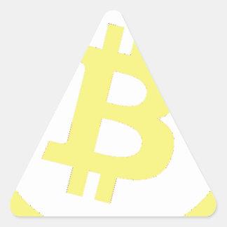 Bitcoinのロゴ 三角形シール