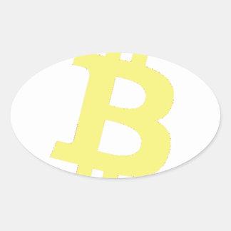 Bitcoinのロゴ 楕円形シール