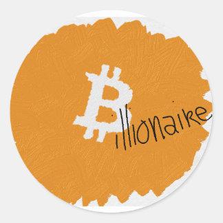 Bitcoinの億万長者のアートなステッカー ラウンドシール