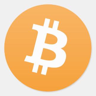 Bitcoinの円形のロゴかステッカー ラウンドシール