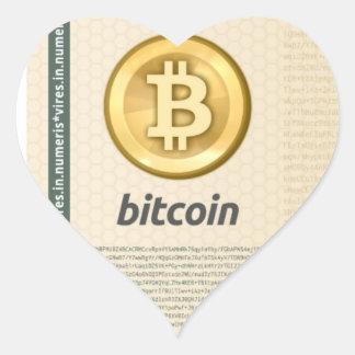 Bitcoinの札入れ ハートシール
