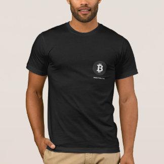 Bitcoinの黒いワイシャツ Tシャツ