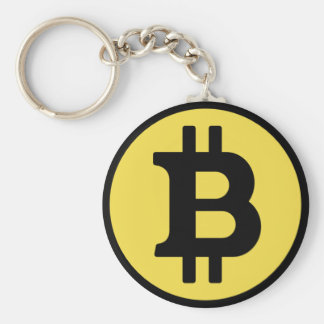 Bitcoinの黒くおよび黄色のkeychain キーホルダー