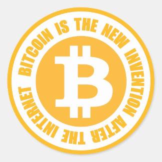Bitcoinはインターネットの後に新しい発明です 丸型シール