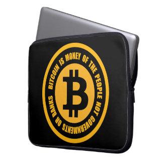 Bitcoinは人々のない政府のお金です ラップトップスリーブ