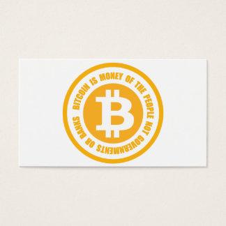 Bitcoinは人々のない政府のお金です 名刺