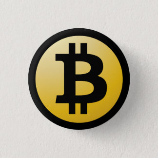 Bitcoinボタン 3.2cm 丸型バッジ
