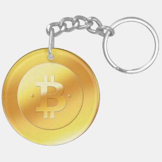 BitCoin二重味方されたKeychain キーホルダー