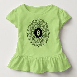 BITCOIN女の子のひだのTシャツ トドラーTシャツ