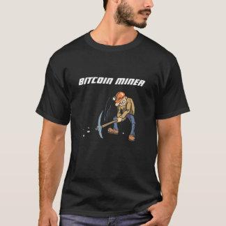 Bitcoin抗夫のTシャツ Tシャツ