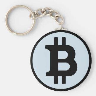Bitcoin淡いブルーのKeychain キーホルダー