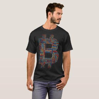"""""""Bitcoin""""のタイポグラフィのTシャツ Tシャツ"""