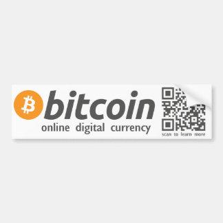 Bitcoin -オンラインデジタル通貨のステッカーQRコード バンパーステッカー