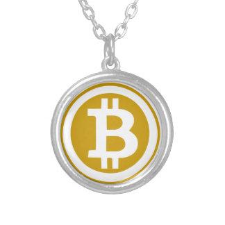 Bitcoin シルバープレートネックレス