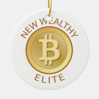 Bitcoin -新しく豊かなエリート セラミックオーナメント