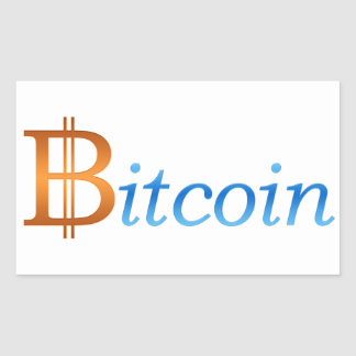 Bitcoin 長方形シール