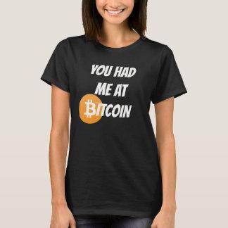Bitcoin - Blockchain Cyrptoのワイシャツで私がありました Tシャツ