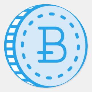 Bitcoin Bluez ラウンドシール