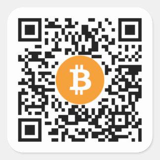 Bitcoin (BTC)の財布QRコードステッカー-正方形 スクエアシール