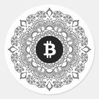 BITCOIN/HENNA円形のステッカー ラウンドシール