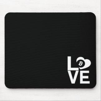 BITCOIN/LOVEマウスのパッド マウスパッド