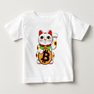 Bitcoin Maneki Nekoの幸運な猫01 ベビーTシャツ