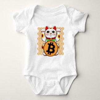 Bitcoin Maneki Nekoの幸運な猫06 ベビーボディスーツ