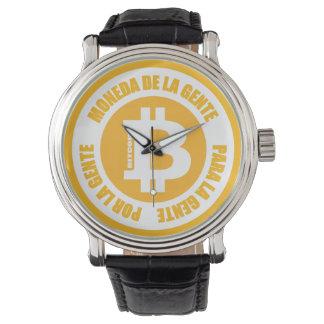 Bitcoin Moneda De La GenteパラグラフGente PorのLa Gente 腕時計