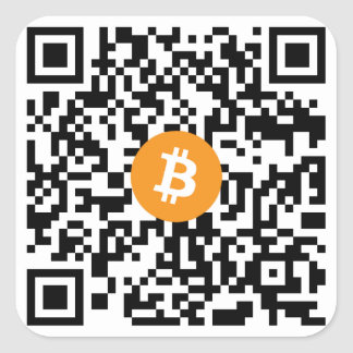 Bitcoin QRコード小さいステッカー(20のシート) スクエアシール