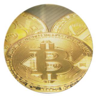 Bitcoinsのマクロ大きい円形のmojo プレート