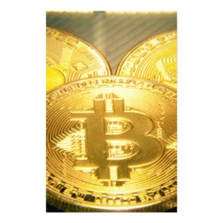 Bitcoinsのマクロ大きい円形のmojo 便箋