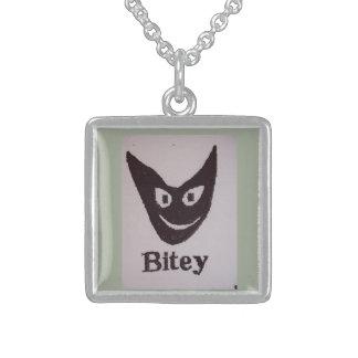 Bitey猫 スターリングシルバーネックレス