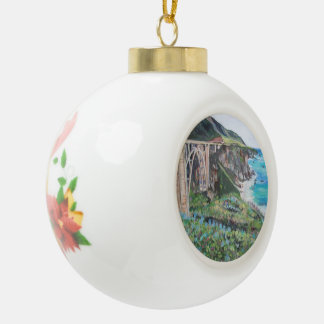 Bixby橋、陶磁器の球のオーナメント セラミックボールオーナメント