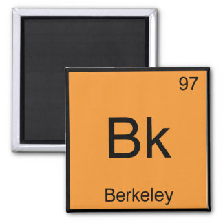 Bk -バークレー化学要素の記号カリフォルニア マグネット