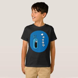 Bla Bla Bla! 青いウサギ球の芸術はTシャツをからかいます Tシャツ