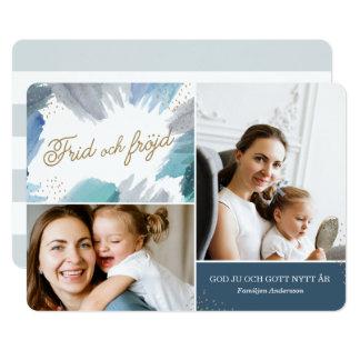 Blå Målning Julkort カード