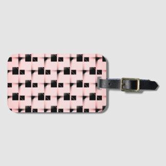 Black and Pink Pattern ラゲッジタグ