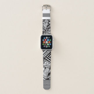 black and white abstract apple watch apple watchバンド